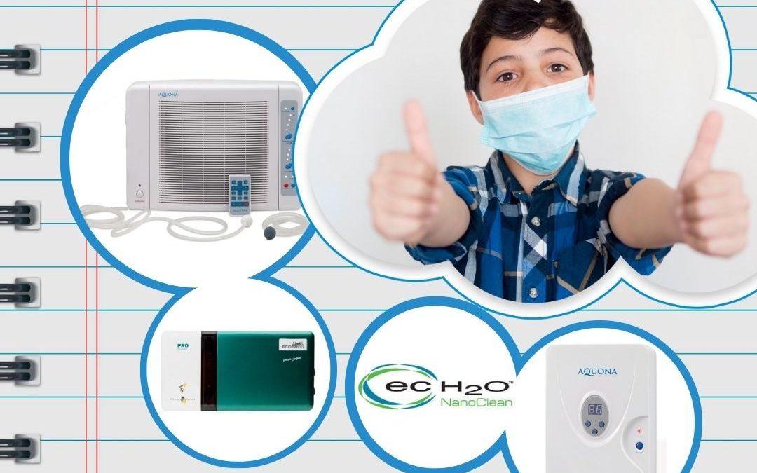 Aulas aún más seguras: Medidas de Protección frente al COVID-19. Instalación de filtros HEPA/Generadores de Ozono.