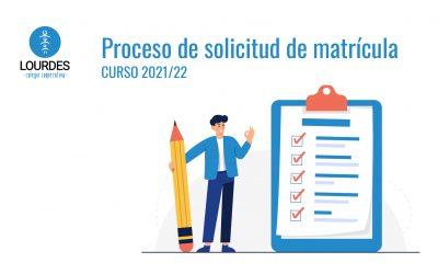 A TENER EN CUENTA PARA LA ENTREGA DE SOLICITUDES DE MATRÍCULA CURSO 2021/22